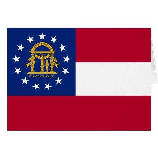 Georgia Flag Greeting Cards