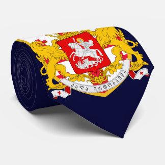 Georgia Flag Coat Arm Tie