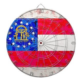 GEORGIA FLAG DARTBOARD