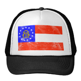 Georgia Flag (Distressed) Trucker Hats
