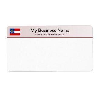Georgia Flag Header Shipping Label