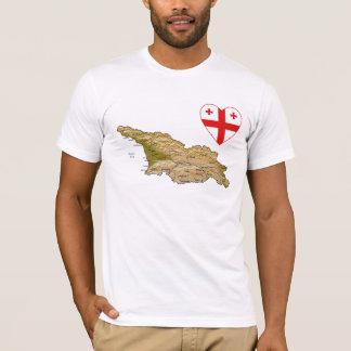 Georgia Flag Heart and Map T-Shirt