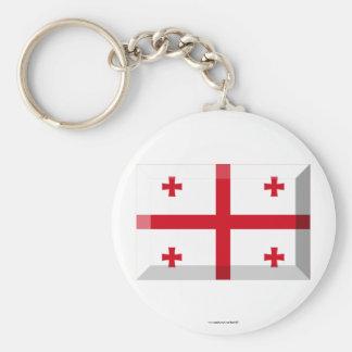 Georgia Flag Jewel Keychains