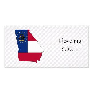 Georgia Flag Map Photo Card