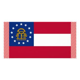 Georgia Flag Customized Photo Card