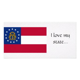 Georgia Flag Picture Card