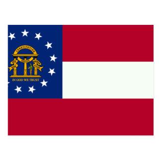 Georgia Flag Postcard
