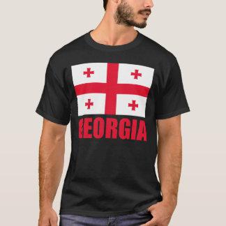 Georgia Flag Red Text T-Shirt