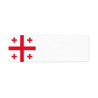 Georgia Flag Return Address Label