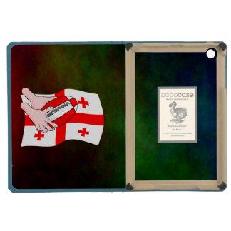 Georgia Flag Rugby Ball Pass Cartoon Hands iPad Mini Case