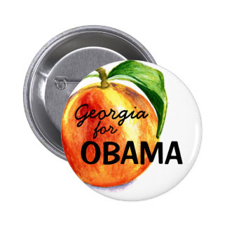 Georgia for OBAMA 6 Cm Round Badge