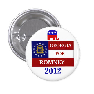Georgia  for Romney 2012 3 Cm Round Badge