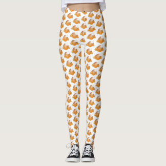 Georgia GA Peach Cobbler Southern Dessert Foodie Leggings