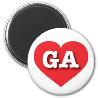 Georgia GA red heart Fridge Magnet