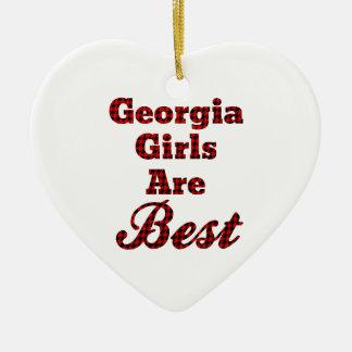 Georgia Girls Are Best Ceramic Heart Decoration