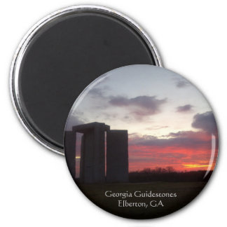 Georgia Guidestones Sunset Magnet