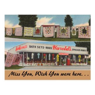 Georgia, Harold's Shop Postcard
