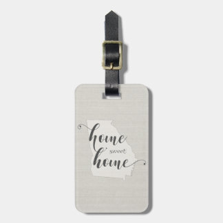 Georgia - Home Sweet Home burlap-look Luggage Tag