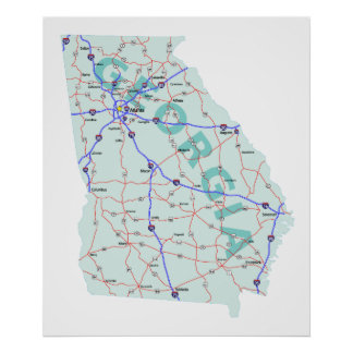 Georgia Interstate Map Print