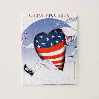 georgia loud and proud, tony fernandes jigsaw puzzle