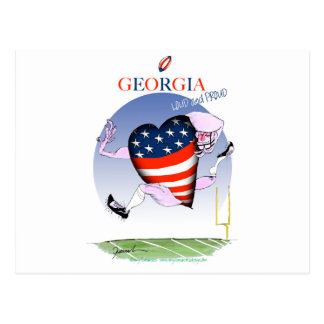 georgia loud and proud, tony fernandes postcard