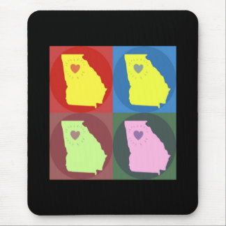 Georgia Made Mod Art Deco Mousepad Atlanta Love)