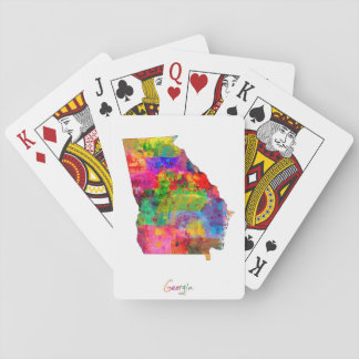Georgia Map Playing Cards