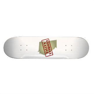 Georgia Native Stamped on Map Skate Board