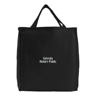 Georgia Notary Public Embroidered Bag