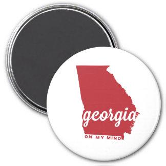 georgia   on my mind   cherry 7.5 cm round magnet