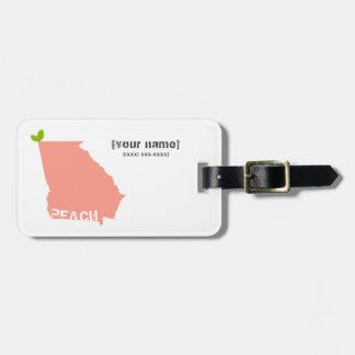 Georgia Peach Monogrammed Luggage Tag