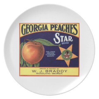 GEORGIA PEACHES PARTY PLATE
