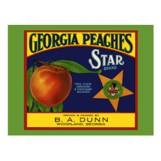 Georgia Peaches Postcard