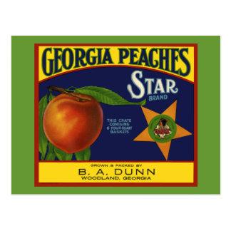 Georgia Peaches Postcard