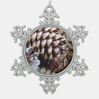 Georgia Pine Cones Arrangement Snowflake Pewter Christmas Ornament