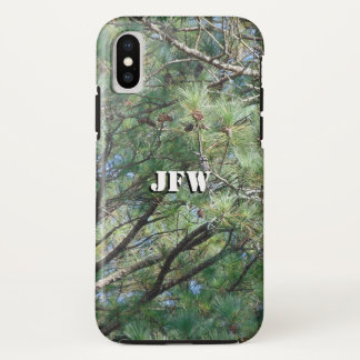 Georgia Pine Tree Branches 074 iPhone X Case
