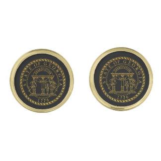 Georgia Seal in Gold Gold Finish Cuff Links