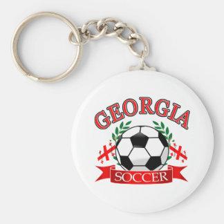 Georgia soccer ball designs key chain
