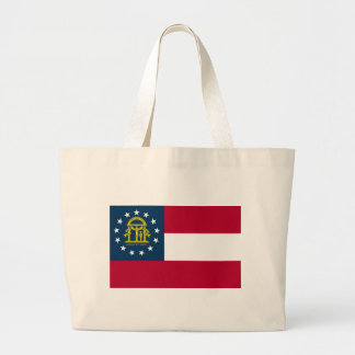 Georgia State Flag Large Tote Bag