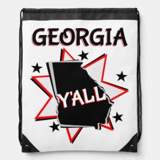 Georgia State Pride Y'all Drawstring Bag
