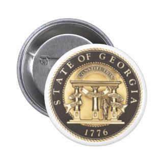 Georgia State Seal 6 Cm Round Badge