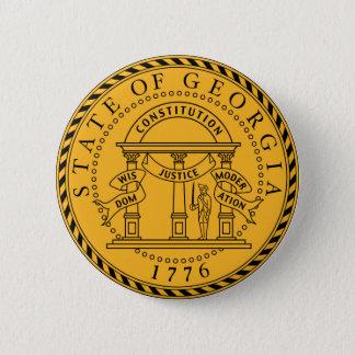 Georgia state seal america republic symbol flag 6 cm round badge