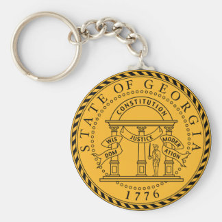 Georgia State Seal Keychain