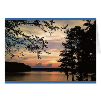 Georgia Sunset - Lake Acworth Greeting Card