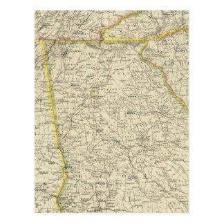 Georgia, Tennessee,  Alabama Postcard