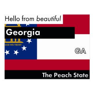 Georgia The Peach State Postcard