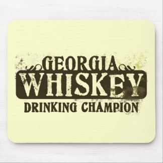 Georgia Whiskey Drinking Champion Mouse Mats
