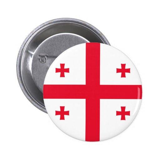 Georgian flag button