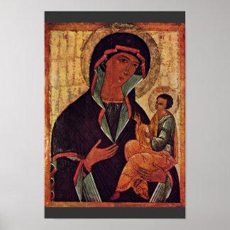 Georgian Madonna By Meister Der Schule Von Nowgoro Poster