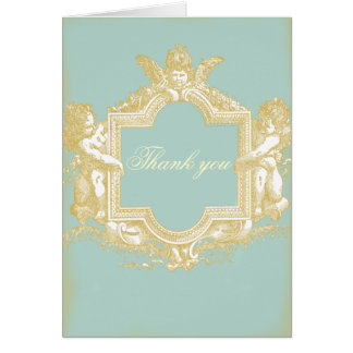 Georgiana (Marie Antoinette Blue) WeddingThank you Card
